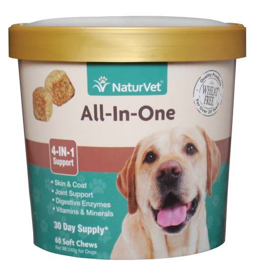Naturvet All-In-One (4-IN-1 Support) Soft Chews 60ct