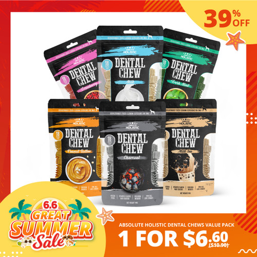 6.6 SALE Absolute Holistic Dental Chew Value Pack