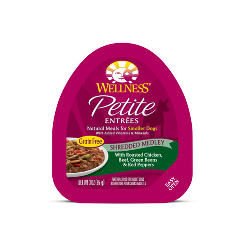 Wellness Core Small Breed Dog Petite Entrees Shredded Medley (Roasted Chicken, Beef Green Beans & Red Peppers)