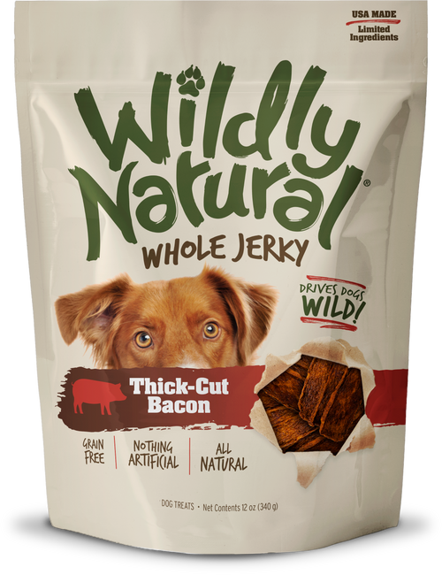 Fruitables Wildly Natural Whole Jerky Thick-Cut Bacon Treats 5oz