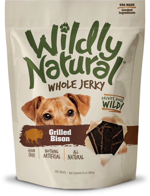 Fruitables Wildly Natural Whole Jerky Grilled Bison Treats 5oz