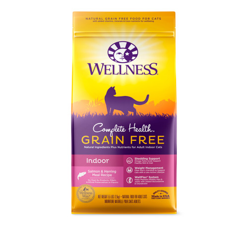 Wellness Complete Health Grain-Free Dry Food for Indoor Cats (Salmon & Herring Meal)