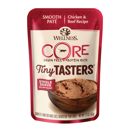 Wellness CORE® Tiny Tasters™ for Cats - Chicken & Beef