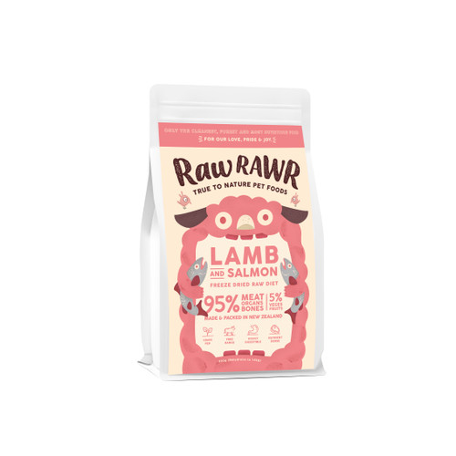 Raw Rawr Lamb & Salmon Freeze Dried Balanced Diet Dog Food