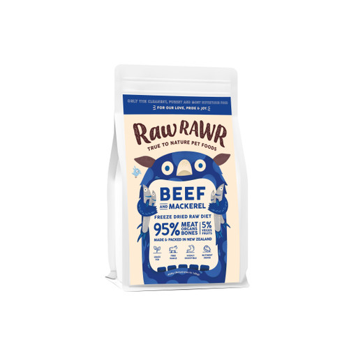 Raw Rawr Beef & Sardine Freeze Dried Balanced Diet Dog Food
