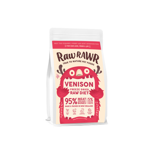 Raw Rawr Venison Freeze Dried Balanced Diet Dog Food