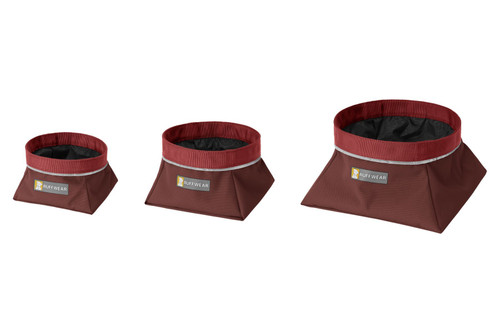 Ruffwear Quencher™ Collapsible Food & Water Bowl - Fired Brick