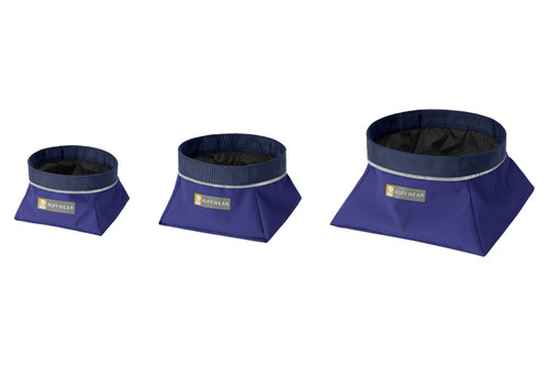 Ruffwear Quencher™ Collapsible Food & Water Bowl - Huckleberry Blue