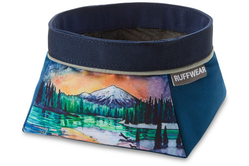Ruffwear Quencher™ Artist Series Collapsible Food & Water Bowl - Sparks Lake