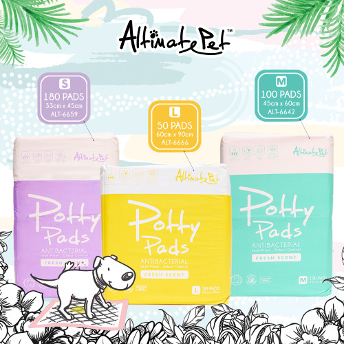 Altimate Pet Antibacterial Odour Control Potty Pee Pad Pet Sheets