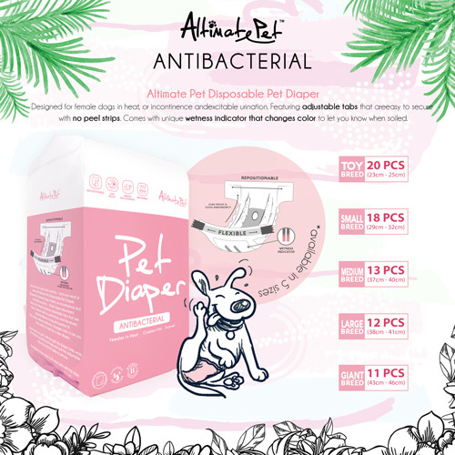 Altimate Pet Antibacterial Pet Diaper