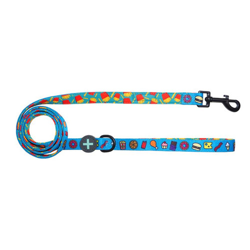 Moo+Twig Two-Faced Neoprene Handle Leash - Snack Attack