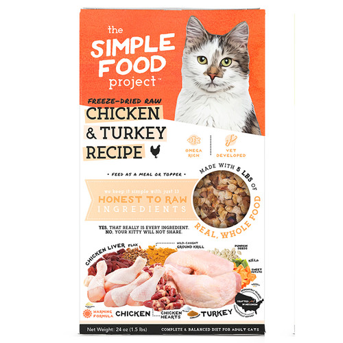 Simple Food Project Chicken and Turkey Cat Food