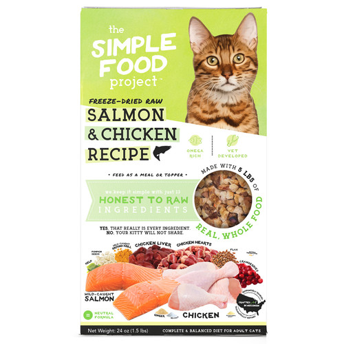 Simple Food Project Salmon and Chicken Cat Food