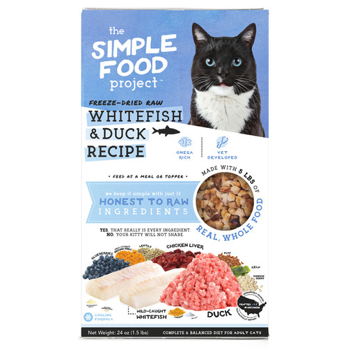 Simple Food Project Whitefish and Duck Cat Food