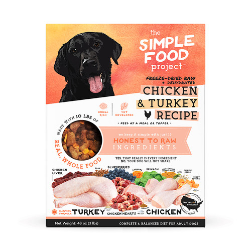 Simple Food Project Chicken and Turkey Dog Food
