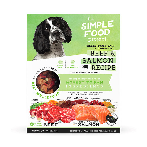 Simple Food Project Beef and Salmon Dog Food