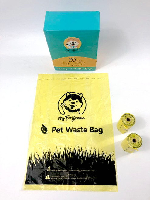 Myfurbaebie biodegradable poo bag rolls