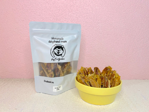 Homemade Dehydrated Chicken Wing Tip Treats