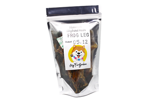 Homemade Dehydrated Frog Leg Treats