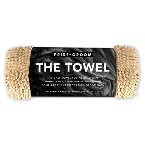 PRIDE+GROOM The Towel Microfiber with Hand Pockets