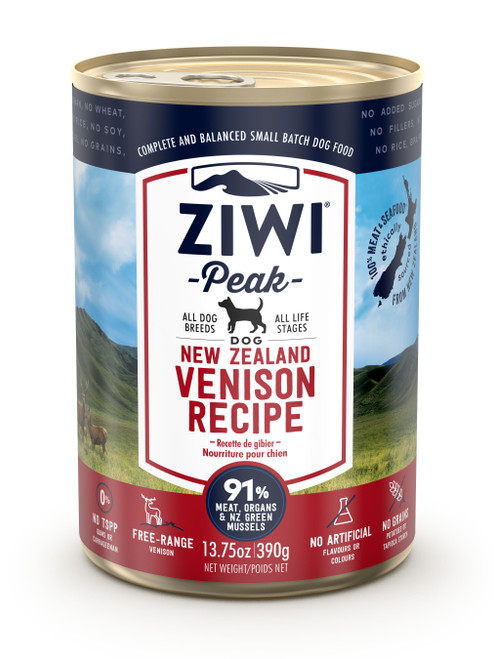 Buy 5 Free 1 ZIWI Peak Venison Canned Dog Food