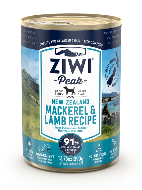 Buy 5 Free 1 ZIWI Peak Mackerel & Lamb Canned Dog Food
