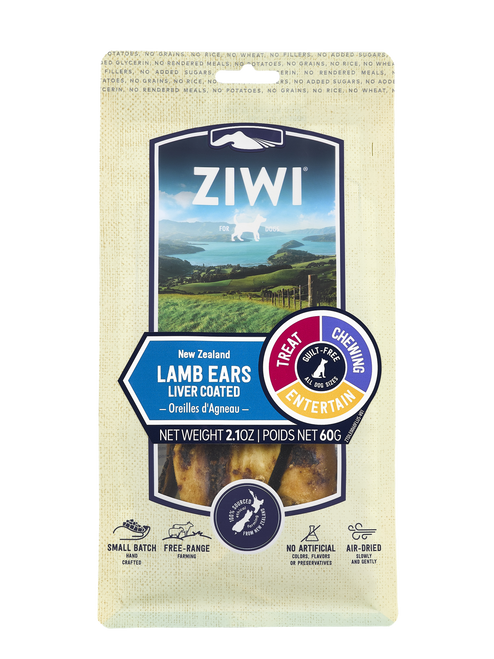 ZIWI Peak Air-Dried Lamb Ears Treats