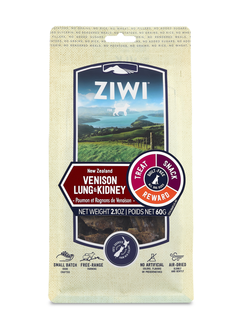 ZIWI Peak Air-Dried Venison Lung & Kidney Dog Treats