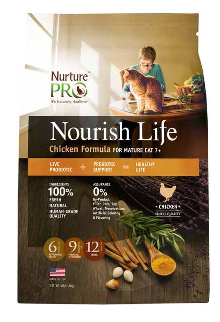 Nurture Pro Nourish Life Chicken Formula for Mature Cat 7+