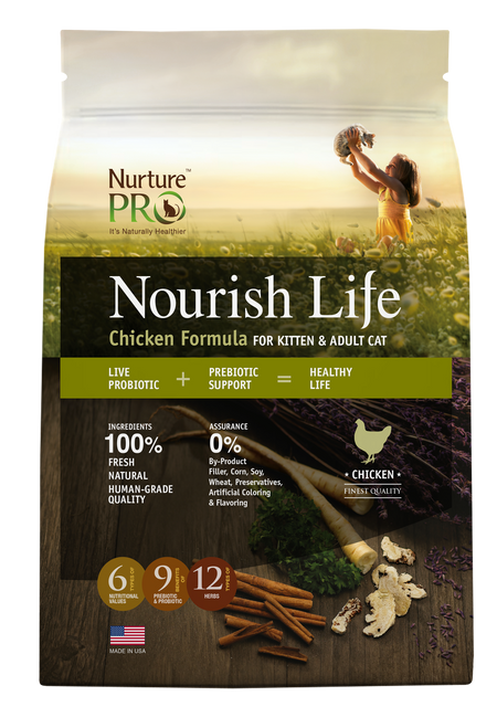 Nurture Pro Nourish Life Chicken Formula for Kitten & Adult Cat