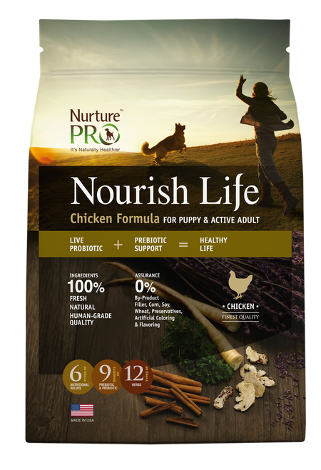 Nurture Pro Nourish Life Chicken Formula for Puppy and Active Adult