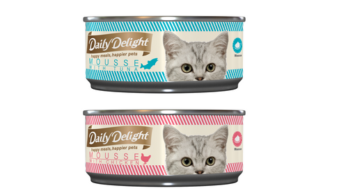 Daily Delight Canned Cat Food Mousse series