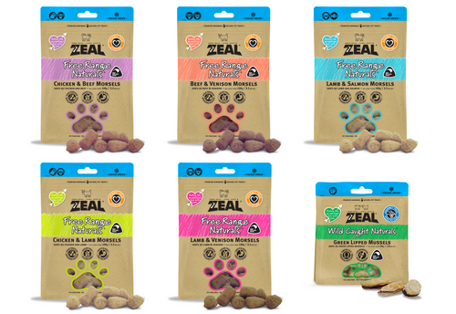 Zeal Freeze Dried Treat Pouches