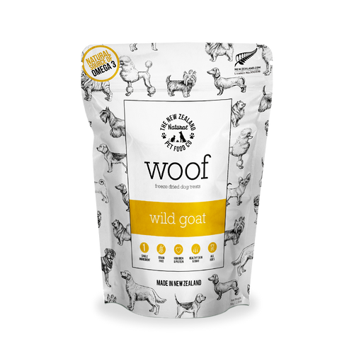 Woof Wild Goat Single-Ingredient Freeze Dried Dog Treats