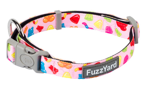 Fuzzyard Dog Collar - Jelly bears