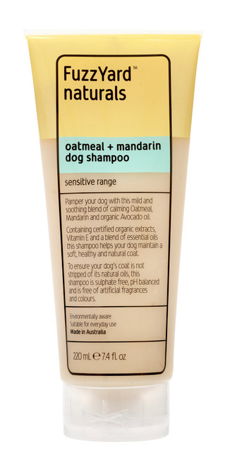 Fuzzyard Oatmeal and Mandarin Sensitive Dog Shampoo