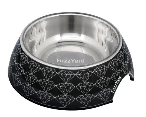 Fuzzyard Easy Feeder Bowl - Black Diamond