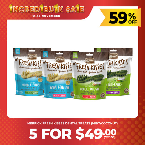IncrediBULK SALE 5 for $49 Merrick Fresh Kisses