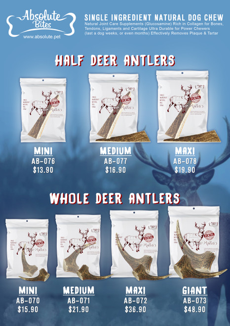 Absolute Bites Deer Antler Dental Chew