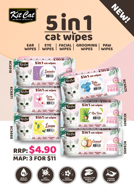 Kitcat Wipes