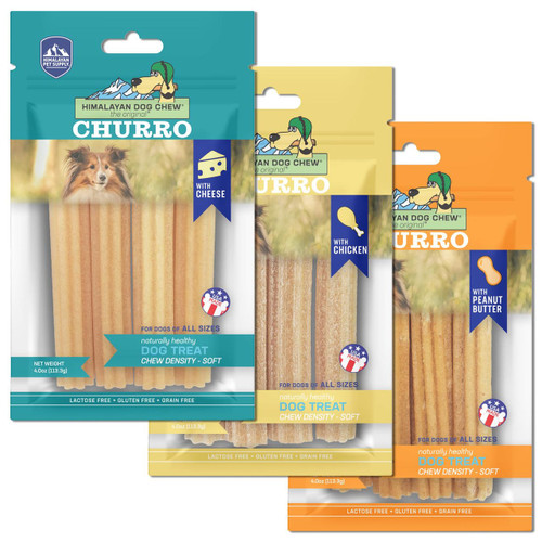 3 for $29 Himalayan Pet Supply Churro Cheese Dog Chew