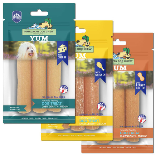 3 for $29 Himalayan Pet Supply Yum Cheese Dog Chew