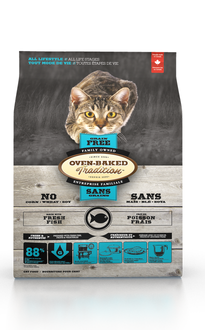 Oven-Baked Tradition Grain Free Fish Cat Kibbles