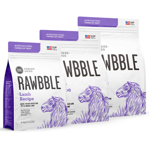 Rawbble Grain Free Lamb Limited Ingredient Freeze Dried Dog Food/Toppers/Treats