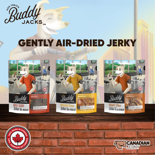 Canadian Jerky Buddy Jack's Gently Air-Dried Jerky Treats