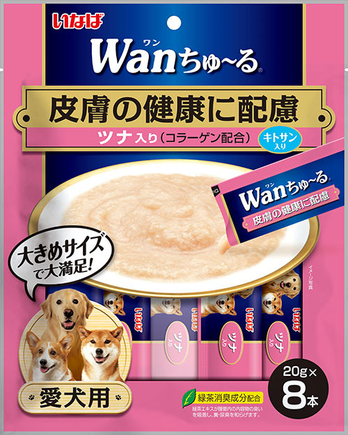 Inaba Functional Wan Churu Chicken with Tuna (Skin & Coat) Creamy Treat