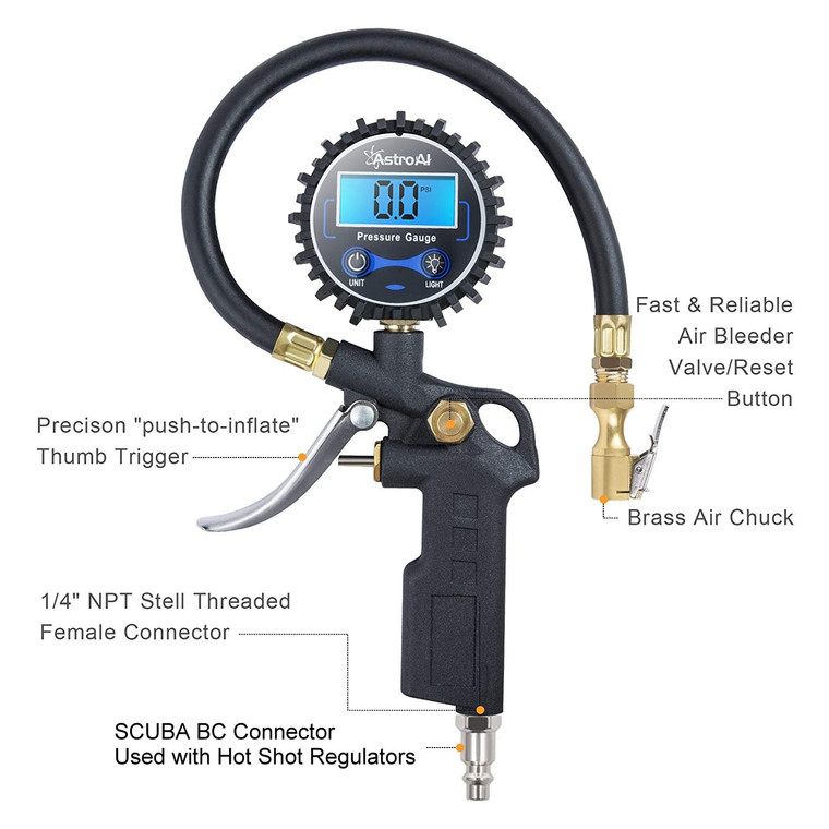 Hot Shot Premium Low Pressure Fill Gage