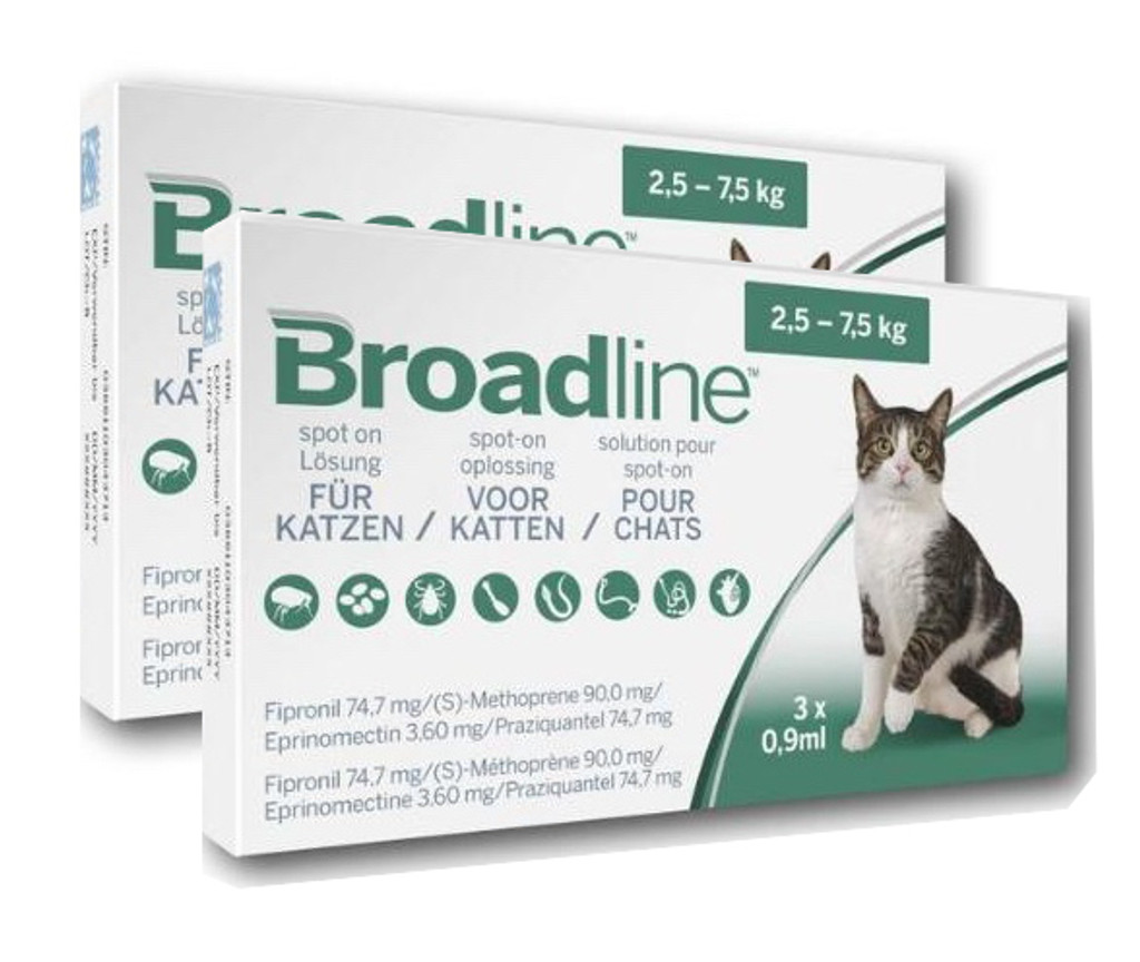 Broadline for Large Cats 6 Doses - Front Packaging