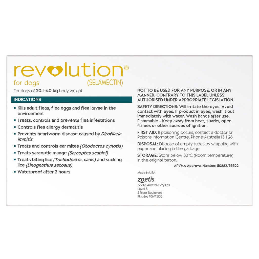Revolution for Dogs 40.1-85 lbs - Teal 6 Pack + 1 Extra Dose Free and Bonus Worming Tablets
